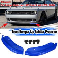 2X Front Bumper Lower Lip Splitter For Dodge Challenger SRT Scat Pack 2015-2020