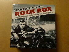 10-DISC CD BOX / ROCK BOX (ASIA, ATOMIC ROOSTER, BARCLAY JAMES HARVEST, URIAH..)