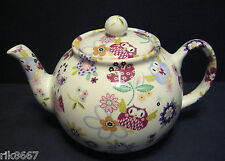 Heron Cross Pottery Owl Chintz 6-8 Cup English Tea Pot