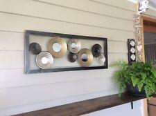 Modern Art Decor Wall Art Metalic Mirror Metal Framed Sculptured Picture