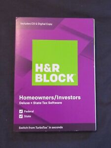 2019 H & R Block Homeowners/Investors FAST AUTHENTIC DOWNLOAD ONLY