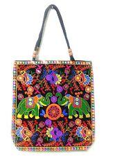 Embroidered Hobo Bag Mirror Vintage Handmade Indian Hippie Elephant Shoulder Bag