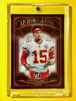Patrick Mahomes CHIEFS LEGENDS OF THE FALL SPECIAL INSERT DONRUSS 2020 - Mint!