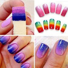 8pcs DIY Design Nail Art Sponge Stamp Stamping Polish Transfer Manicure Supplies