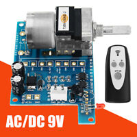 AC/DC 9V Infrared Pre AMP Motor Audio Amplifier Volume Remote Control Board HEA