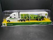 John Deere Hauler White Semi with Trailer and Graphics New in Package