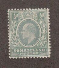 Somaliland Protectorate 27 - King Edward Half Penny. MH. OG.   #02 SOMAL27