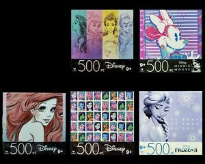 Lot of 5 ~ NEW Jigsaw Puzzles Cardinal Disney Princesses Minnie Areil Elsa NIB