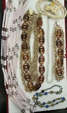 fashion jewelry mixed items lots Ladies 7 Necklaces +matchup Bracelet All For$14