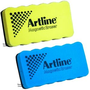 Artline Magnetic Eraser, Yellow & Blue Whiteboard Eraser, 47417 & 47416