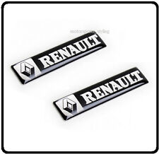 2x Renault Badge Emblem Decal Sticker Door Side Wing Clio Megane Scenic Car 84