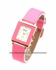 Omax Ladies White Dial Watch in Pink, Rose Gold Finish, Seiko Movt RRP £49.99