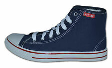 Ladies/Womens Canvas Boots, Ankle High Pumps, Navy,Size 8 (EUR42) Free Postage!