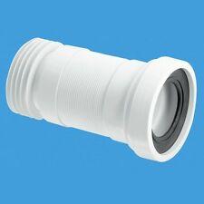 McAlpine WC-F26R Straight Flexible Toilet Pan Connector
