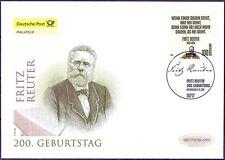 BRD 2010: Fritz Reuter! post-fdc la nr 2832 con Berliner sello especial! 1a 1510