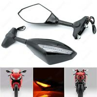 Motorcycle Turn Signal Integrated Racing Sport Mirrors For Yamaha YZF R1 R6 FZ