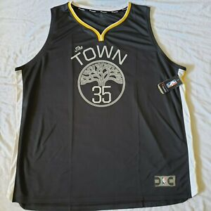 Fanatics Mens Kevin Durant Golden State Warriors The Town Gray Jersey Size 4XL