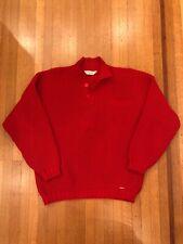 Vintage Steffner Ski Sweater Red 100% Wool Austrian Retro Made In Austria Apres