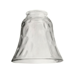 Litex Clear Hammered Bell Vanity Light Shade Ceiling Fan Easy to Install New