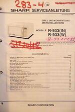Service Manual-Anleitung für Sharp R-933 ,ORIGINAL