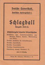 Deutsche Turnerschaft. Amtliches Spielregelheft 3. Schlagball Ausgabe 1929/31