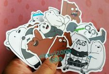 NEW! WE BEAR BEARS STICKERS CARTOON NETWORK PARTY FAVORS SET OF 9 STICKERS #4