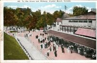 Vintage Postcard, Crystal Beach Canada, The Midway, 1914