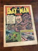 Detective Comics #84 coverless incomplete DC Comics 1944 Batman
