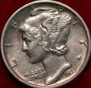 1935-D Denver Mint Silver Mercury Dime
