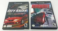 City Racer (Nintendo GameCube, 2003) Booklet Game Case Tested Works + Burnout