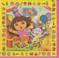 2 Serviettes en papier Dora Fête decoupage Decoupage Paper Napkins A party
