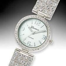 NEW Geneva 62623474 Platinum Glitz & Glamor Womens Analog Metal Bezel Watch 30M