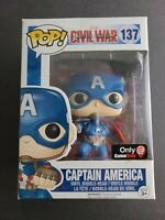 Funko Pop Captain America Vinyl Figure #137 Marvel Civil War Gamestop Exclusive
