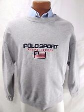 Vtg 90's Polo Sport Ralph Lauren Spell Out Embroidered Sweatshirt Mens L INDIAN