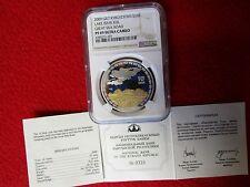 Kyrgyzstan 2009 Great Silk Road NGC PF69 .925 silver .999 gold plating w/COA