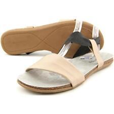 100% Leather Slim Slides Sandals for Women