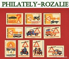 Safety Matches Czechoslovakia set matchbox labels We drive without accidents N71