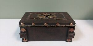 Wildwood Accents Hammered Metal Chest /Box Antiqued Bronze & Gold Finish