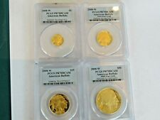 2008-W  SET .9999 PROOF AMERICAN BUFFALO GOLD COINS PCGS PR70DCAM 4 GOLD COINS