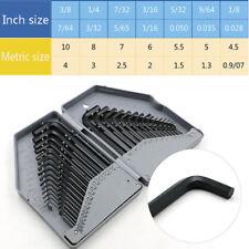 30pcs/set Combo Hexagon Hex Allen Key Wrench Screwdriver Tool Kit METRIC & SAE