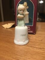 precious moments 523844 Once Upon A Holy Night Special 1990 Issue Mini Bell