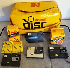 Kodak Disc Camera Lot Cameras, Bag, and Film