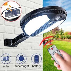 500LM Solar Round Wall Light Remote Control Street Light Garden Waterproof Lamp