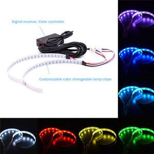 Bluetooth Wireless Remote Control 15-SMD RGB LED Demon Eye Halo Ring DRL Lamp
