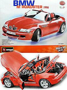 BMW Z3 M Roadster 1996-2002 rot red 1:18 Bburago Metall Bausatz Kit