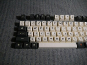 87/104 Dice sp sa Carbon Warning ABS Keycaps for Mechanical Keyboard Keypads