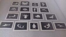 30 x sea theme mini small stencils for glitter tattoos / airbrush seaside ocean