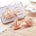 Ceramic Starfish Shell Salt Pepper Shakers Set Wedding Bridal Shower Favor
