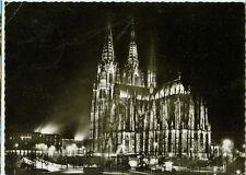 Alte Ansichtskarte Postkarte Köln Dom Festbeleutung 1959