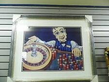 Will Rafuse Tucker and roulette wheel painting framed